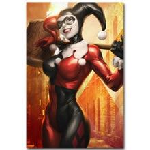 Harley Quinn Silk Fabric Poster (4 Sizes)
