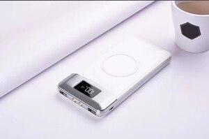 Image 3 - 2020 무선 30000mah 전원 은행 외부 배터리 은행 내장 무선 충전기 Powerbank 휴대용 충전기 iPhone8 x note9