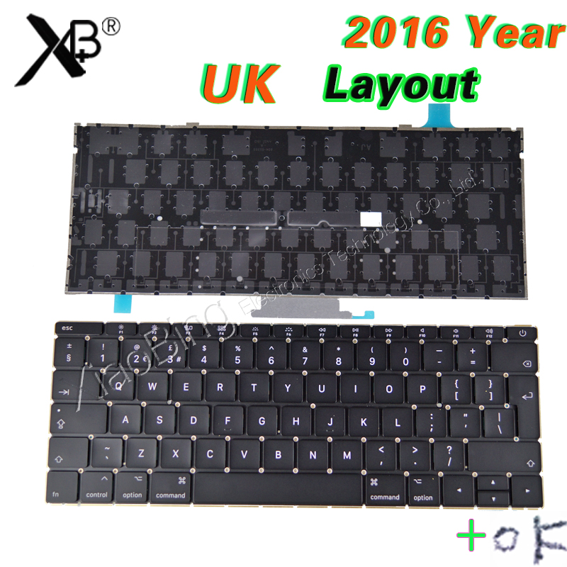 2016-2017year Laptop A1534 UK Keyboard Backlight Backlit +Screws for Macbook 12 A1534 UK Keyboard Backlight Backlit 2016-2017 кеды кроссовки низкие dc trase tx se black destroy wash