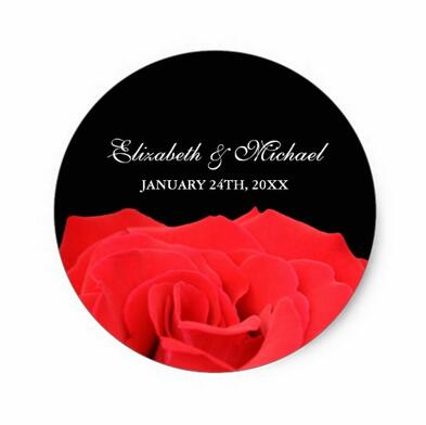 1 5inch Red Rose and Black font b Wedding b font font b Favor b font