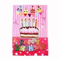 Johnin собственный дизайн дома кекс декоративные С Днем Рождения сад флаг