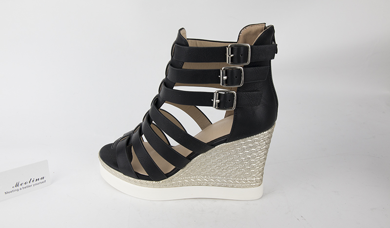 Gladiator Shoes, Women's Platform Wedges, High Heel Sandals, Rome Ladies Wedge Heels 15
