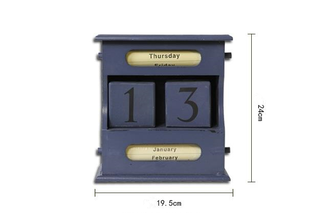 Houten Accessoires Woonkamer : Creatieve ambachten houten perpetual kalender witte kleur vintage