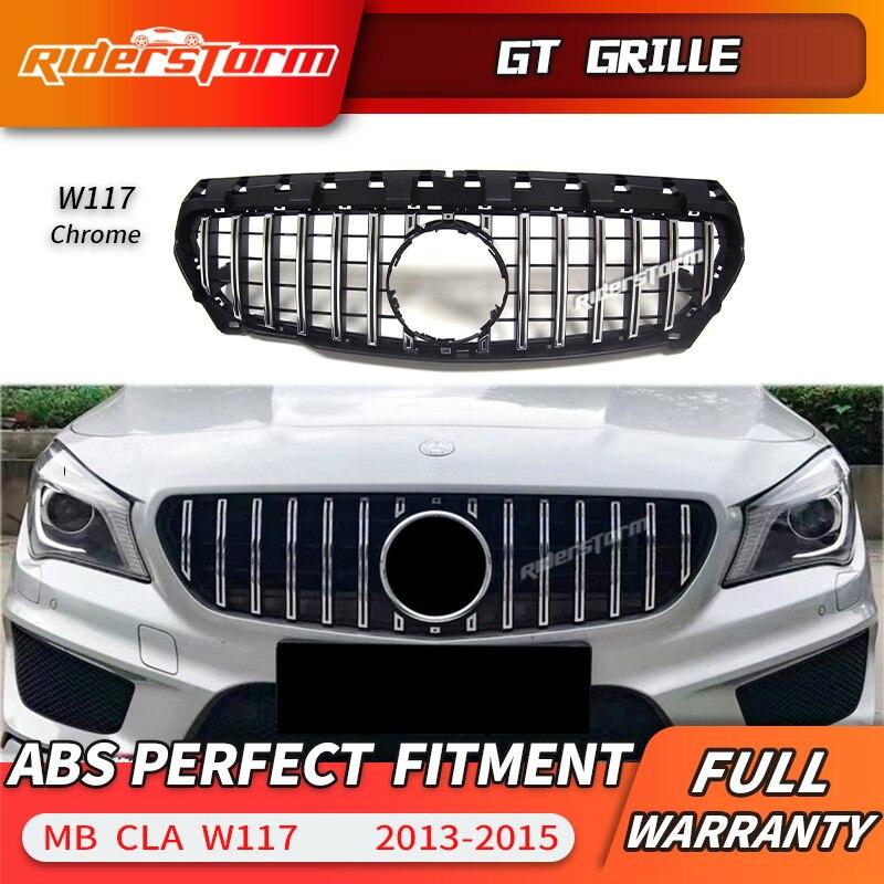 Pour CLA W117 Amg GT Grille Calandre pour Mercedes classe CLA W117 CLA200 220 CLA250 260 300 2016- 2018 grill grille de pare-chocs avant