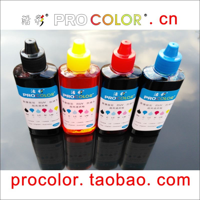PROCOLOR 16 220 CISS dye ink refill kit For Epson WF-2750 WF-2750DWF WF2750 WF2750DWF WF 2750 2750DWF inkjet printer