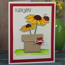 Eastshape  Flower Metal Cutting Dies for Scrapbooking New Sunflower Stamps and Cuts Card Making Clear