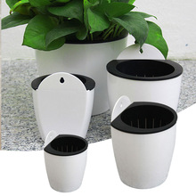 Auto-udare de flori Pot Wall Hanging Planter Strong durabile Home Creative