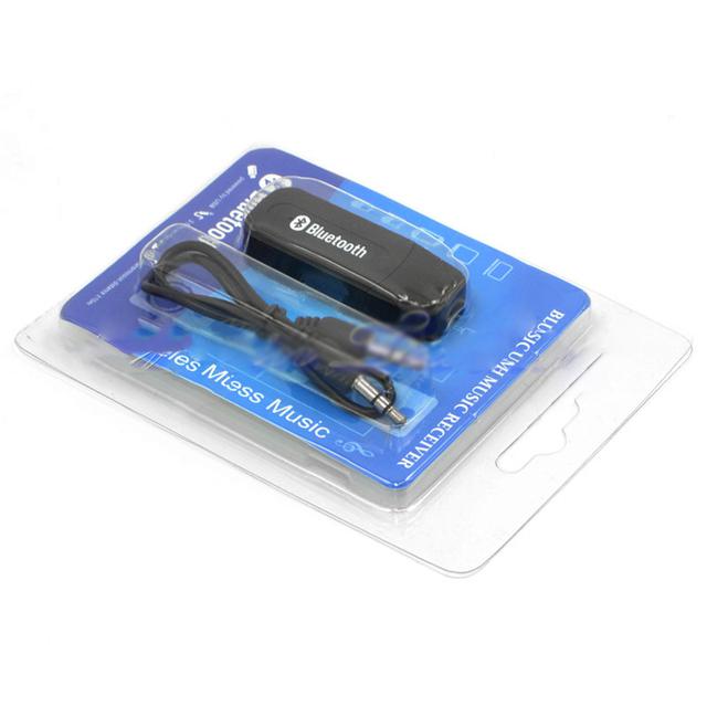 Usb inalámbrico bluetooth 3.5mm music adaptador del receptor de audio para coche manos libres
