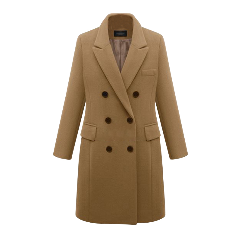 2016 European Women Autumn Winter Coat High Quality Woolen Coat Solid Color Elegant Casual Wool Big Yards Coat Plus Size 5XL (27)
