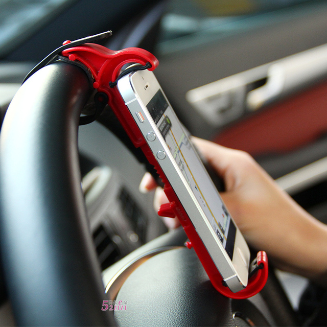 Cell phone hands-free car steering wheel holder mobile phone holder iphone4 s car mobile phone holder