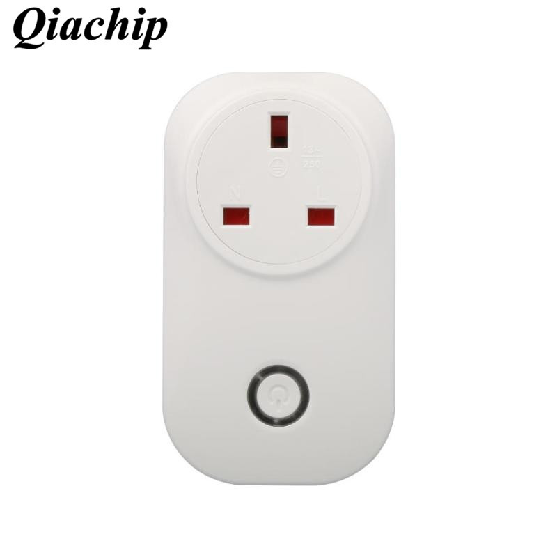WiFi Smart Home Light Switch EU Plug 220V Outlet Control App Control Work With Amazon Alexa Voice Socket Timing Function D40 qiachip wifi wireless power eu plug smart home outlet light switch socket remote control switch outlet work with amazon alexa