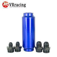 Vr Racing-универсальный авто топливный фильтр синий с 2 шт. AN6 адаптер фитинги & 2 шт. AN8 адаптер фитинги 40 микрон vr5564b