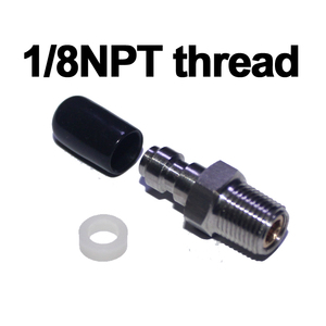 Image 2 - Пейнтбольный пневматический пистолет для страйкбола PCP 8 мм штекерное быстрое соединение с головкой обратный клапан односторонняя фокусная нержавеющая сталь