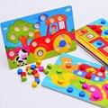 1 Conjunto Montessori De Madeira Tangram Jigsaw Board Aprendizagem Precoce Educacional Puzzles Jogo Dos Desenhos Animados de Madeira Brinquedos para Crianças Presentes para Crianças