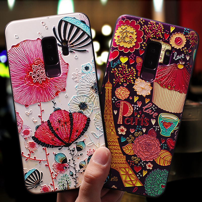 YonLinTan luxury coque,cover,case For <font><b>Samsung</b></font> <font><b>Galaxy</b></font> s9 <font><b>s</b></font> <font><b>9</b></font> / s9 plus s9plus Back etui 3D cute mobile phone 360 Original cases image