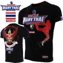 VSZAP Muay Thai Garuda T-shirt Fitness Men MMA Short-sleeved Printed Flying Kick Fighting UFC Sanda Sporting Bodybuilding