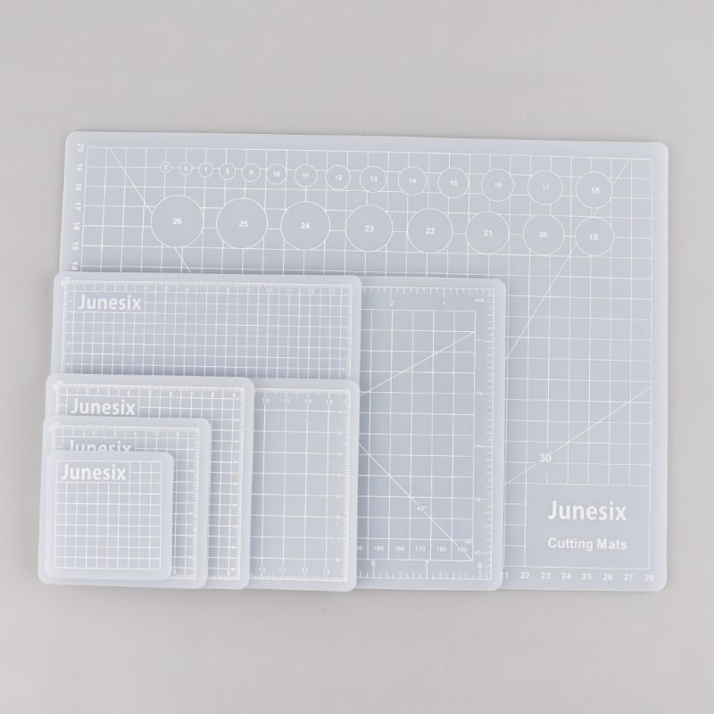 Translucent Cutting Pad Hand Account Sticker Scraping Compound PVC Cutting Pad Rubber Stamp Cutting Board Multi-Size C26