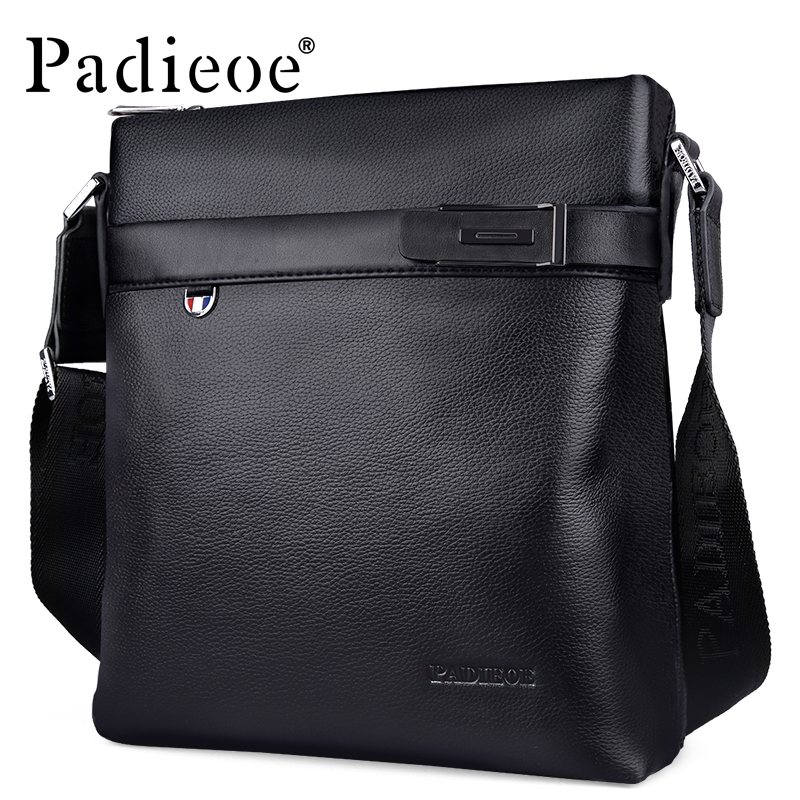 Padieoe 2017 Fashion High Quality Genuine Leather Bag Men Crossbody Shoulder Messenger Bags Small fashion genuine leather men bags brand leisure men messenger bag man small shoulder bag high quality crossbody bags black