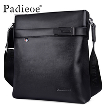 Padieoe 2017 Fashion High Quality Genuine Leather Bag Men Crossbody Shoulder Messenger Bags Small