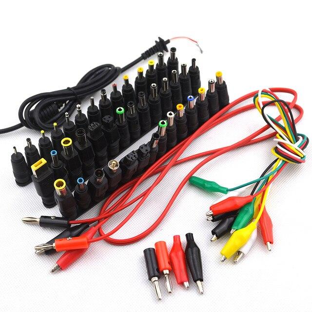 52 adet Evrensel Dizüstü DC güç kaynağı adaptörü Konnektör Fişi AC DC Jack Şarj Konnektörler Dizüstü Güç Adaptörü Dönüşüm Kafası