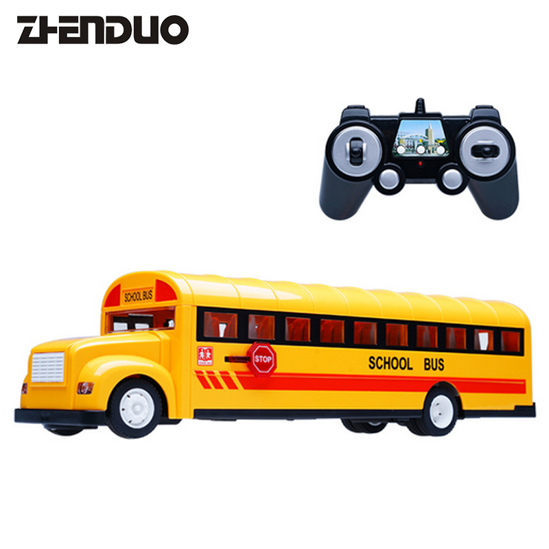 ZhenDuo Toys E626-001 Remote Control School Bus Model Simulation Car Rechargeable Children's Toy infrared remote control simulation brazil turtle toy animal model