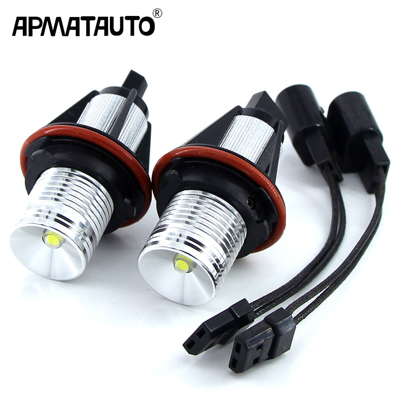 2x Error Free 10w LED Angel Eyes Marker Lights Bulbs white/Blue/Red For BMW E39 E53 E60 E61 E63 E64 E65 E66 E87 525i 530i 545i e39 rgb led angel eyes led marker fog light head lamp kit for bmw e39 e87 e63 e64 e53 e65 e66 e60 e61 free shipping
