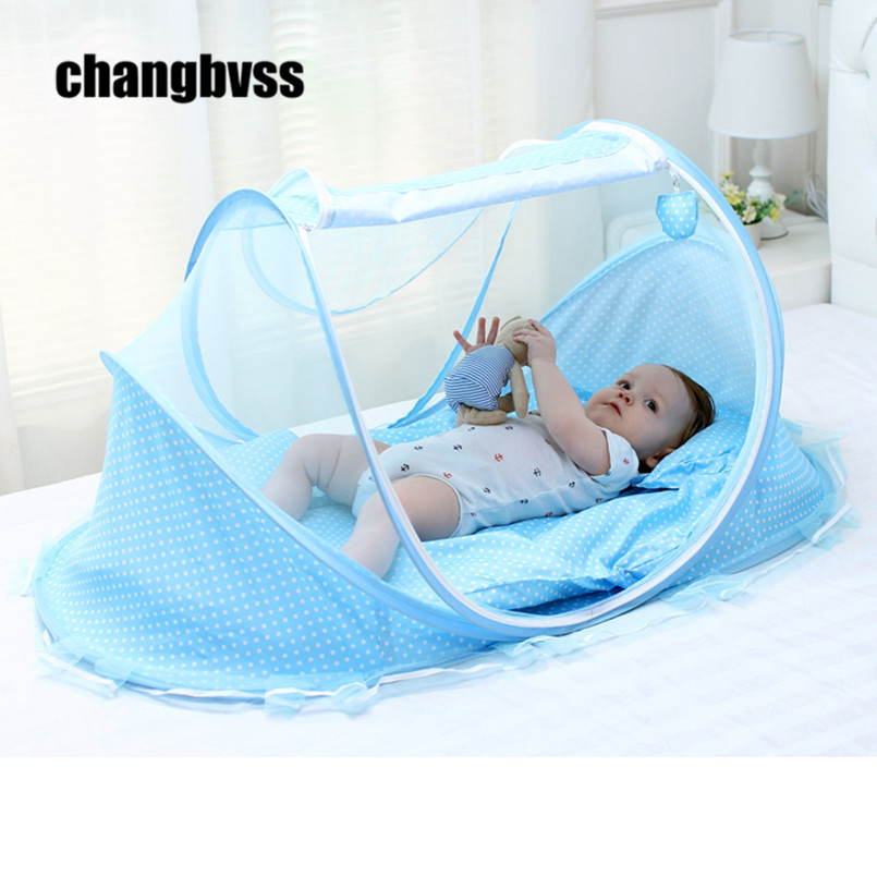 0-3 Years Ger Type Bed Crib Mosquito Netting,Free Installation ,Bottomed Collapsible Portable Baby Mosquito Nets,Send the Mat baby bed curtain kamimi children room decoration crib netting baby tent cotton hung dome baby mosquito net photography props