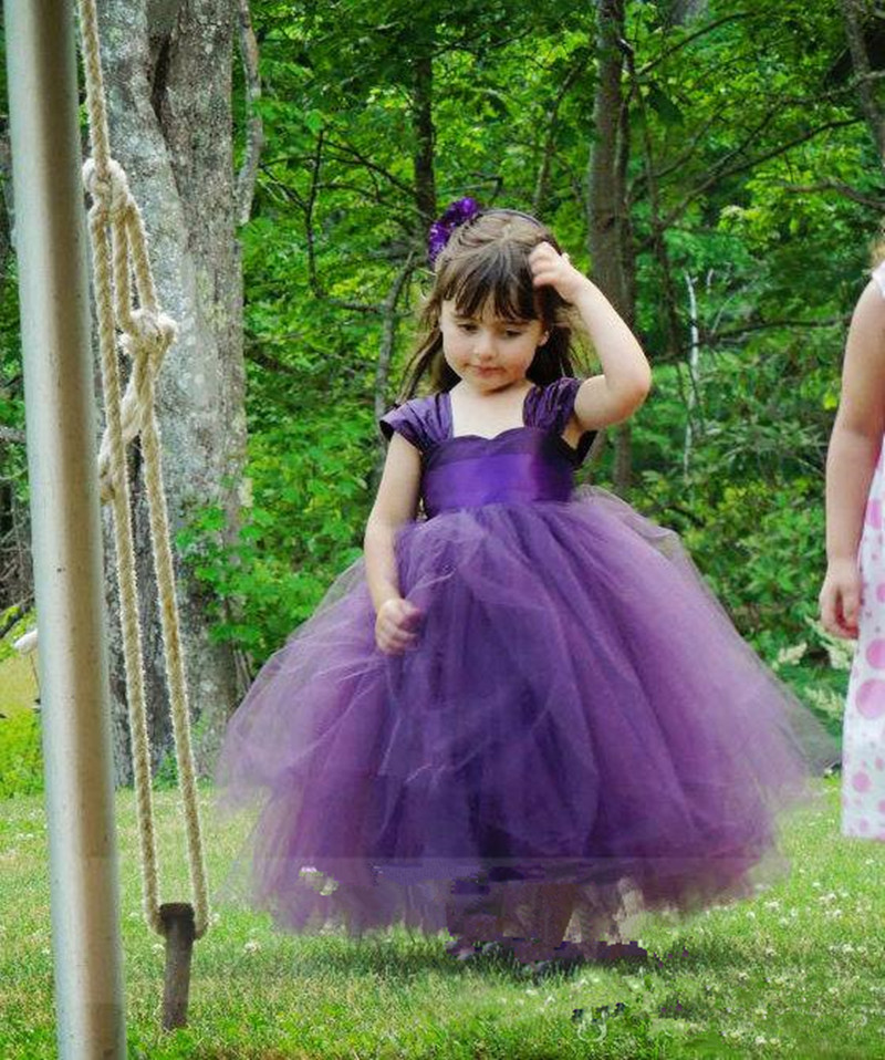 Vintage Organza Kids Ball Gown   Flower     Girls     Dresses   for Wedding Party Custom Made