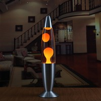 Novelty Lava Lamp Wax Volcano Night Light Metal Base Jellyfish Nightlight Glare Incandescent Lava Lighting Lamp Room Decor Gifts