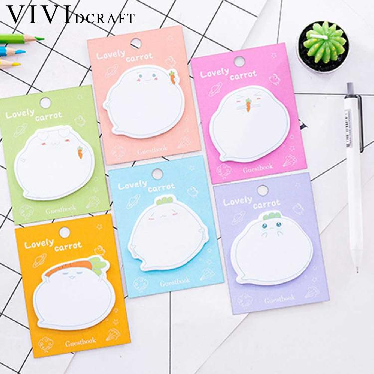 Vividcraft 3pcs/pack Planner Stickers Creative Cartoon Dialog Sticky Notes Message Post Memo Pad School Supplies Paper Bookmarks