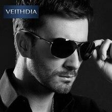Veithdia Polarizadas gafas de sol de diseñador hombres de la marca de Conducción De Aluminio Accesorios Gafas de Sol De los hombres oculos feminin V36