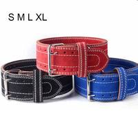 Weightlifting Belt Four Layers Cowhide Leather Protection Gym Fitness Squats Back Weight Training EDF88