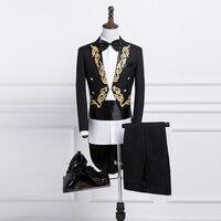 Высококачественная Мужская длинная куртка, пальто в стиле панк, ретро смокинг, свадебная куртка, пальто, осенняя модная однотонная Клубная