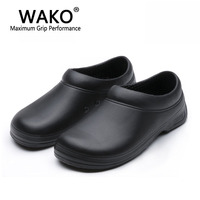 WAKO Male Chef Shoes Men Sandals for Kitchen Workers Super Anti skid Non Slipping Shoes Black Cook Shoes Safety Clogs Size 36 45