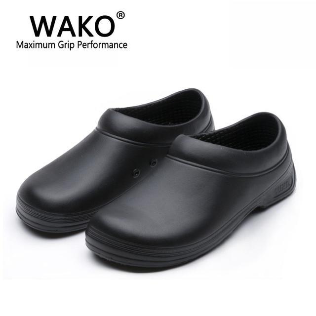 99343986a41 WAKO hombre Chef zapatos hombres sandalias para trabajadores de la cocina  Super antideslizante Zapatos negro cocinar