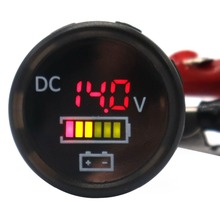 Waterproof Digital Color Volt Meters Display Voltmeter IP67  for 12/24V Car RV Boat Marine