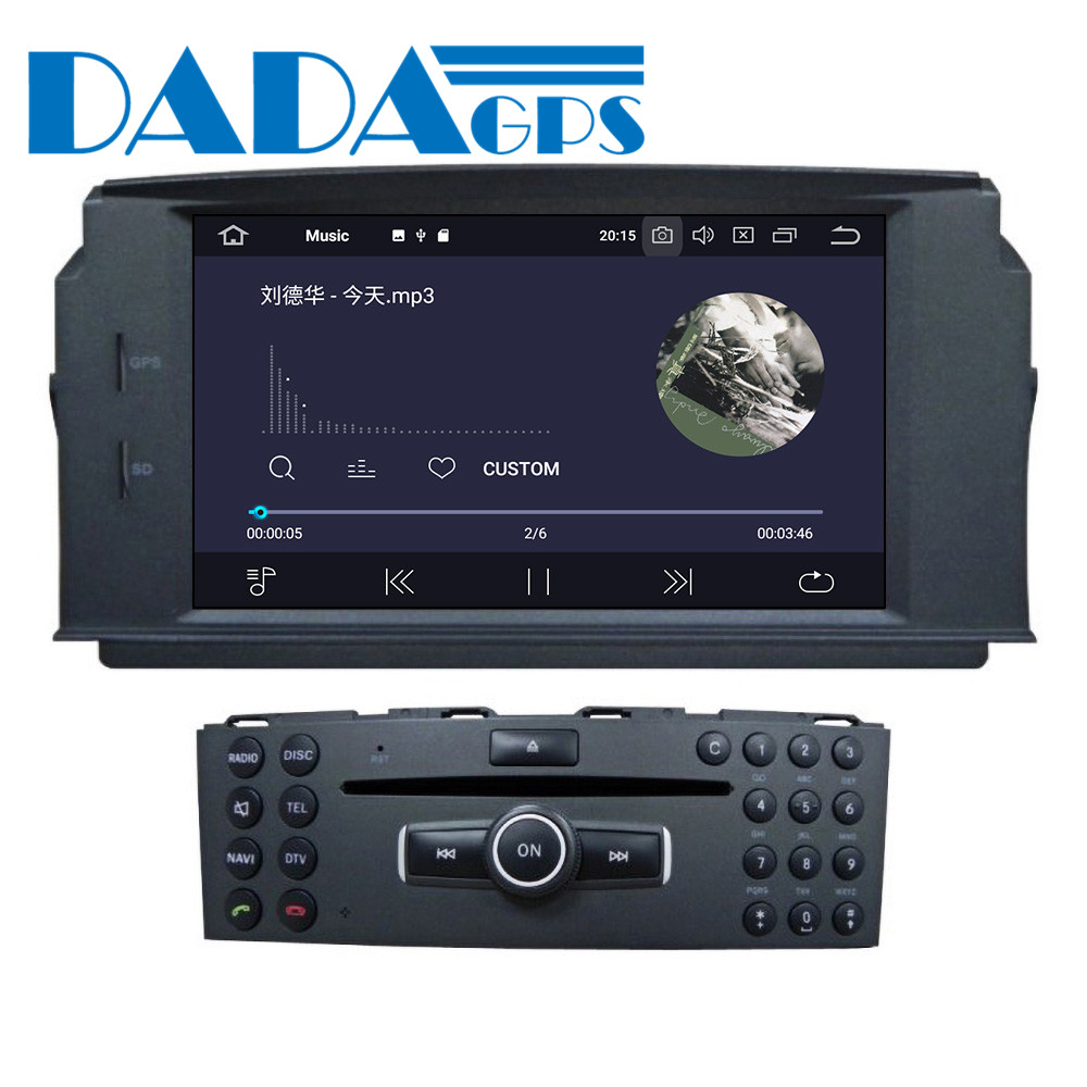 Android Car multimedia DVD-Spieler GPS-<font><b>Radio</b></font> Für Mercedes Benz <font><b>W204</b></font> C200 C180 2007-2010 GPS Navigation <font><b>Radio</b></font> Audio stereo DSP image