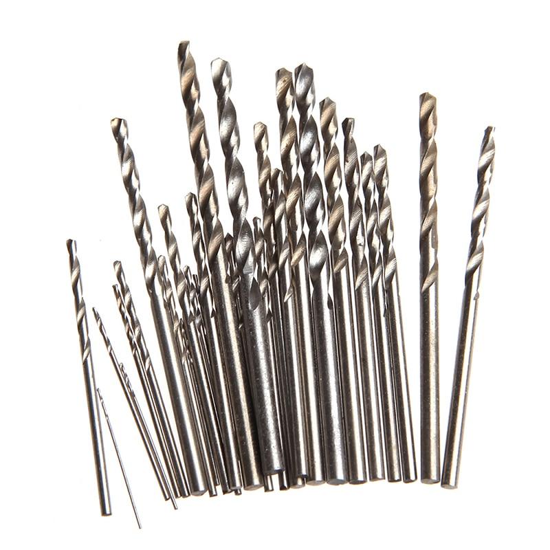 28Pcs Mini Micro HSS Twist Drill Bits Set Metric Sizes 0.33.0mm For PCB Crafts Nice Gifts new 10pcs jobbers mini micro hss twist drill bits 0 5 3mm for wood pcb presses drilling dremel rotary tools