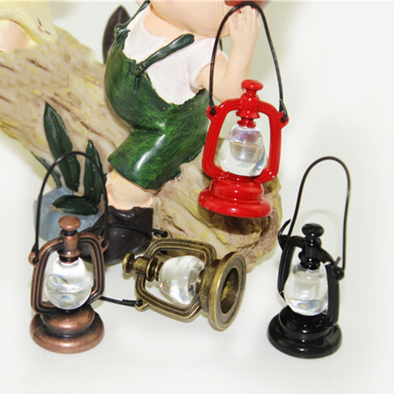 1:12 Retro Oil Lamp Dollhouse Miniature Toy Doll Home Living Room Decor TBO