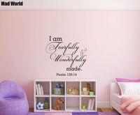 บ้าโลก-คำอธิษฐานI Am Fearfullyและเยี่ยมยอดทำผนังศิลปะสติ๊ก