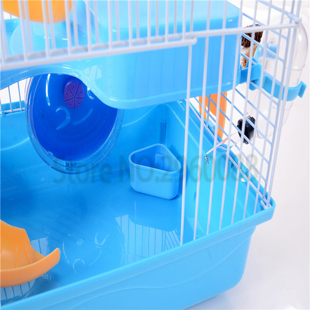 2017 Hot sell Free shipping pet gaiola Multi-storey castle hamster cage Travel carry Novice practical cage hamster accessories
