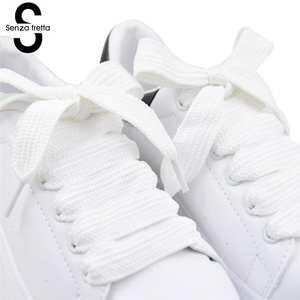 Wide-Shoelace Sneaker Fat-Shoe Senza for Laces LDD0617 Double-Layer 120--1.5cm Fretta