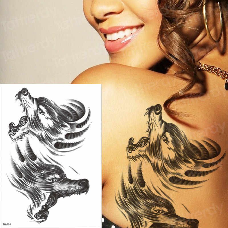 6a352acd1 ... tattoo temporary arm wolf skull temporary chest tattoos mens chest  tattoos motorcycle skull tattoo stickers tatoo ...