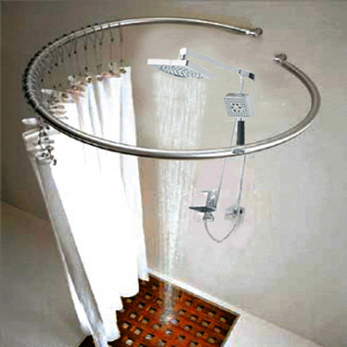 Advanced stainless steel circle shower curtain rod-in Shower Curtain ...