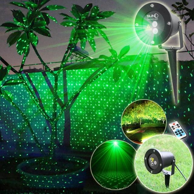 afstandsbediening groen landschap patronen laser projector verlichting waterdicht kerstboom buiten tuin lampen decoratie verlichting