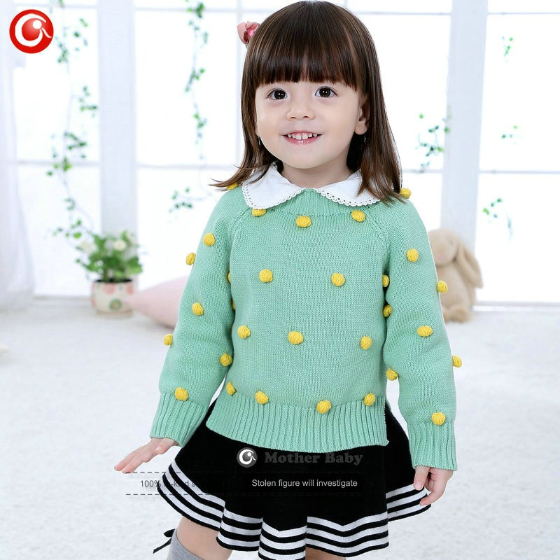 Kids Tinny Cotton Boys Sweater Children Pullover Cardigan Coat For Girls Baby Long Sleeve Knitwear Christmas Clothes With Balls (7)