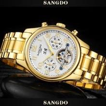 40 мм Sangdo Бизнес смотреть Автоматический Self-ветер движение Сапфировое стекло Высокого качества 2016 новая мода мужские часы 0001