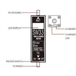 Image 4 - Surecom SW33 VHF UHF قوة صغيرة و SWR متر SW 33 لراديو اتجاهين