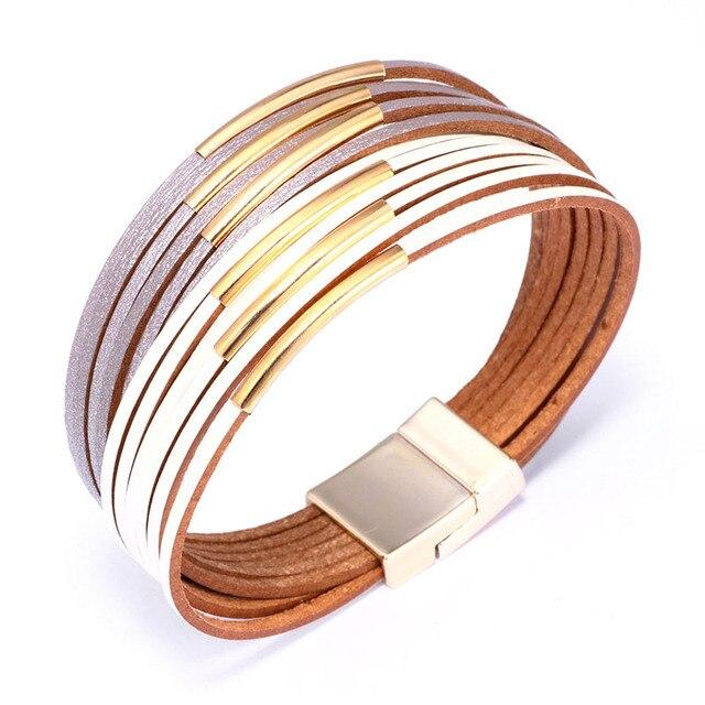 Geometric Leather Bracelet...