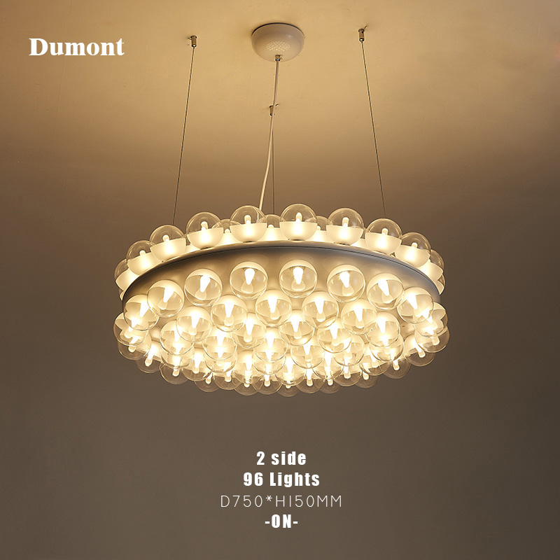 pendant lamp new prop light single round suspension lamp lighting fixture double vertical suspension lamp round